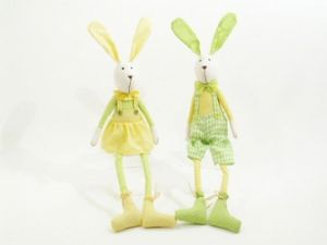 Easter Bunnies shelf sitter decorations in 2 Styles Master Or Miss